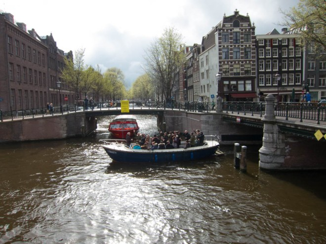 partying on the Prinsengracht